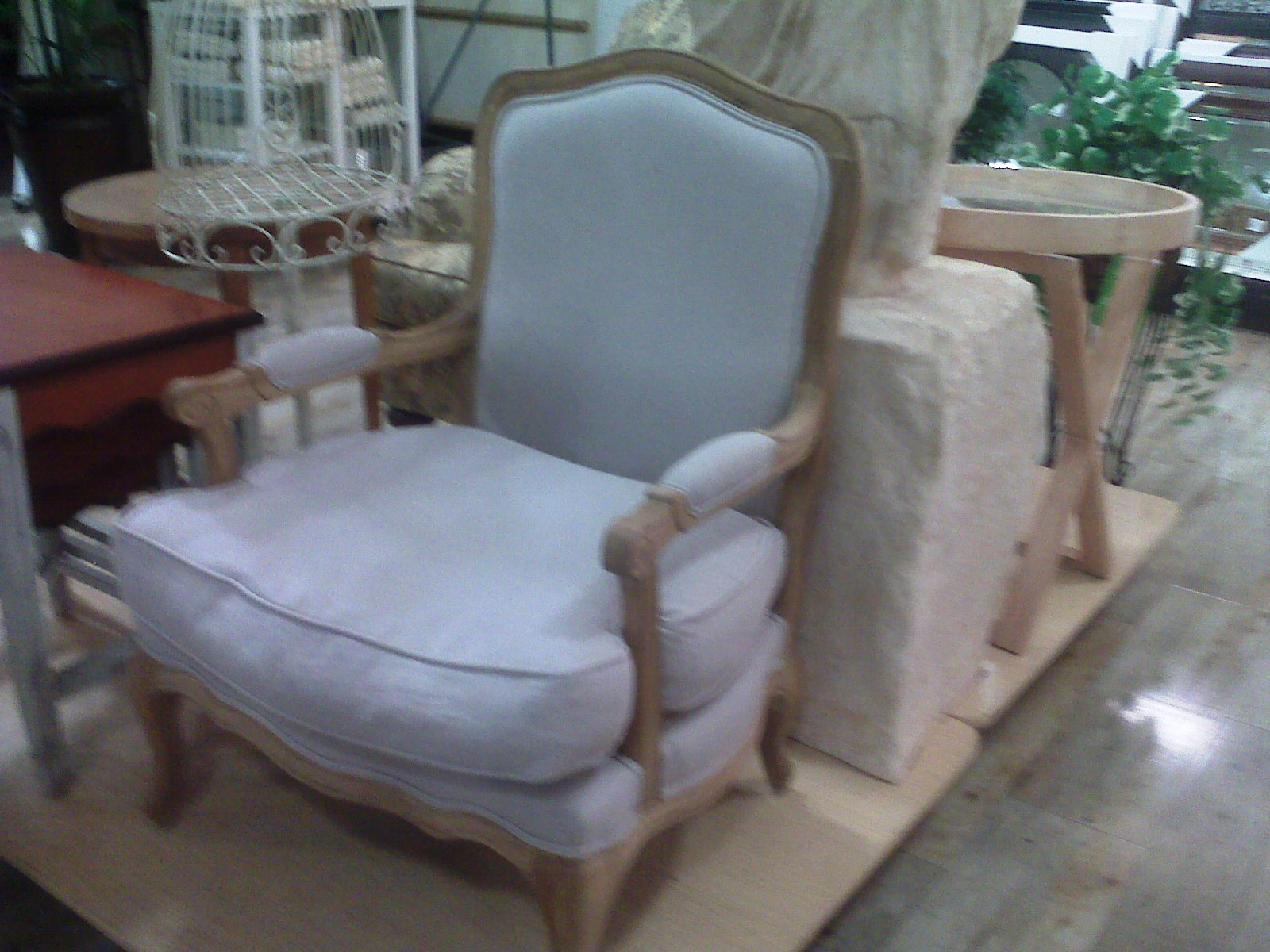 HG French Chair. Just in Dreamy Bleached Wood Furniture at Home Goods Store   Karen